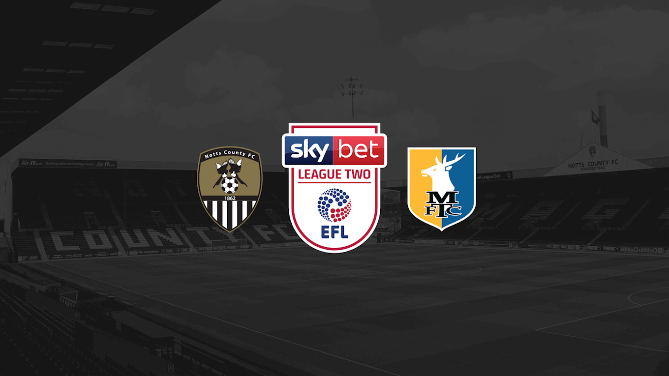 Kick-off brought forward - News - Notts County FC