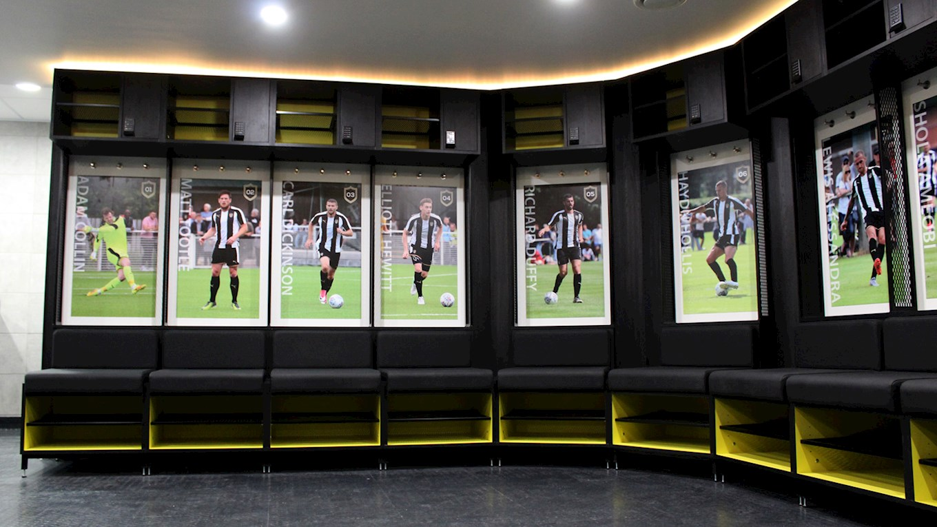 Dressing Rooms New Dressing Rooms Revealed  News  Notts County Fc