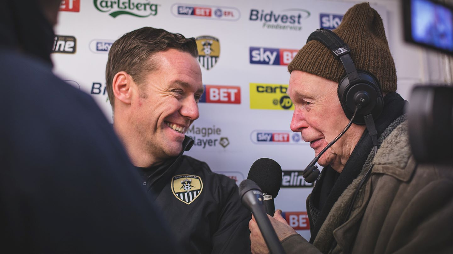 Colin Slater shares a laugh with Kevin Nolan
